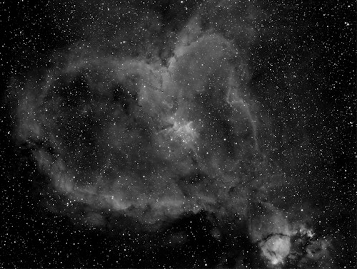 IC 1805 - Heart Nebula in Ha