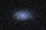M33 imaged with an NP101is refractor and a D90 DSLR camera