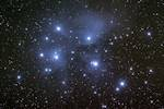M45 - The Pleiades. Imaged with an NP101is refractor and a Nightscape 8300 OSC camera.