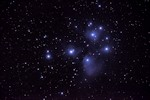 M45 - The Pleiades. Imaged with an NP101is refractor and a D90 DSLR camera.